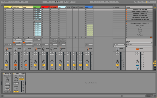 Ableton Live session view