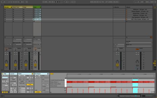 Shaker MIDI track in Ableton Live.