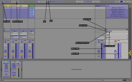 MIDI Mapping view in Ableton Live.